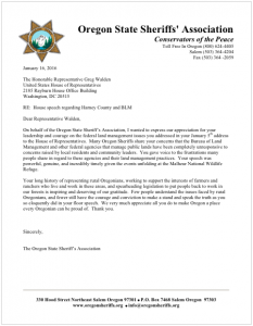 Oregon State Sheriffs Harney County and BLM
